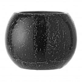bloomingville cache pot rond boule gris effet pierre