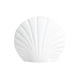 nordal vase coquillage coquille blanche metal aluminium kapitii