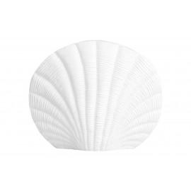petit vase coquillage blanc aluminium nordal kapiti