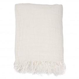 grand couvre lit plaid lin blanc hk living 270 x 270 cm