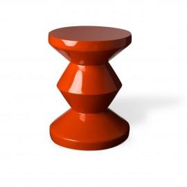 pols potten table d appoint tabouret zig zag rouge corail