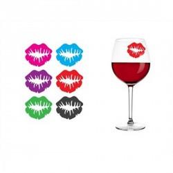 Marqueurs de verre original lips manta design