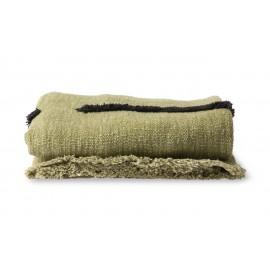hk living plaid vert pistache ligne tufte noir coton