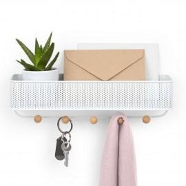 organiseur mural porte courrier et cles metal blanc umbra estique 1004245-660