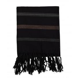 madam stoltz serviette de hammam fouta noir fil cuivre