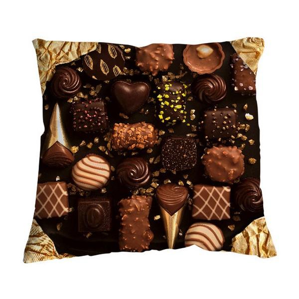 Coussin design pour canap chocolat bonjour mon coussin 35 x 35 - Coussin canape design ...