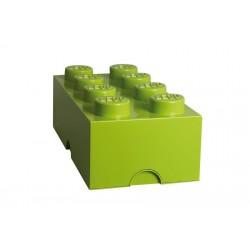 Boite lego rangement design vert anis L