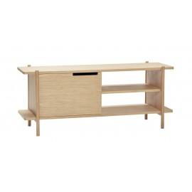 hubsch petit meuble bas etagere bois clair style scandinave