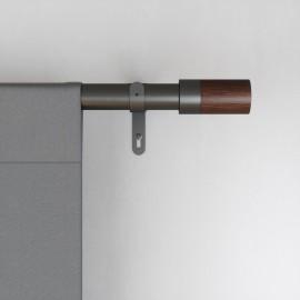 tringle a rideaux extensible simple chic metal gris bois umbra blok