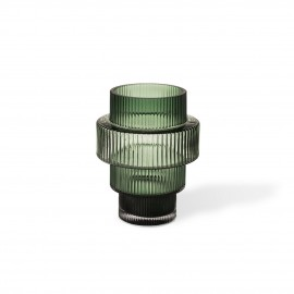 photophore porte bougie style art deco verre vert pols potten steps