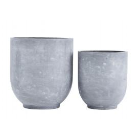 Cache-pot design ciment House Doctor Gard set de 2