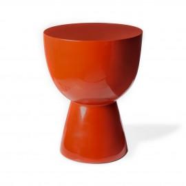 tam tam pols potten tabouret rond design rouge corail