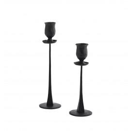 madam stoltz chandelier sur pied fer forge rustique noir set de 2