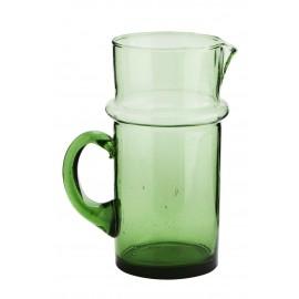 madame stoltz carafe style vintage en verre vert