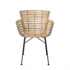 bloomingville fauteuil de table en rotin naturel coast