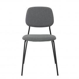 bloomingville chaise confortable design contemporain epure tissu gris
