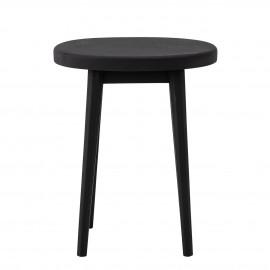 bloomingville table d appoint ronde bout de canape bois noir billie