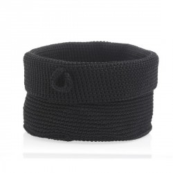 Corbeille tressée rangement design noir confetti Zone Denmark