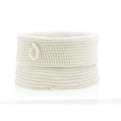Corbeille blanche tissu rangement design confetti Zone Denmark