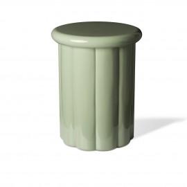 pols potten table basse d appoint laque vert olive roman