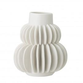 bloomingville petit vase gres blanc trie