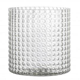 bloomingville vase verre texture bulles en relief  style chic
