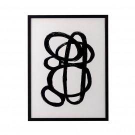 bloomingville illustration abstraite noir blanc cadre zaco