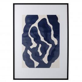 bloomingville tableau decoratif abstrait cadre sivi