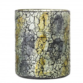 bloomingville vase verre vert aspect craquele