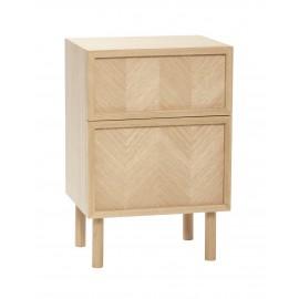 hubsch table de chevet scandinave bois clair tiroir rangement