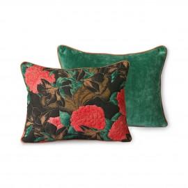hk living doris coussin reversible motif floral vert
