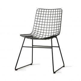 hk living chaise metal noir filaire quadrille
