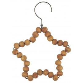 ib laursen decoration de sapin etoile en billes bois naturel manguier