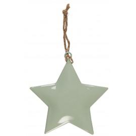 ib laursen decoration de noel etoile metal vert pastel