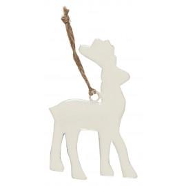ib laursen decoration de sapin renne metal blanc