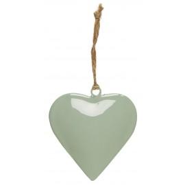 ib laursen coeur metal vert pastel decoration de sapin