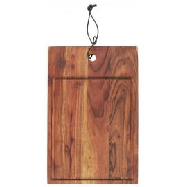 ib laursen planche a decouper bois avec rigole rebord acacia