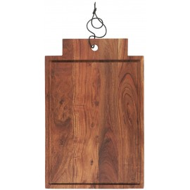 ib laursen grande planche a decouper bois acacia avec rigole rebord
