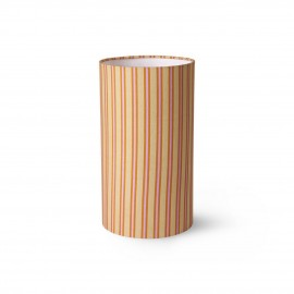 hk living abat jour tube raye imprime  style retro vintage doris