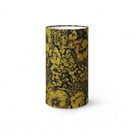 hk living abat jour cylindre imprime floral retro vintage vert doris