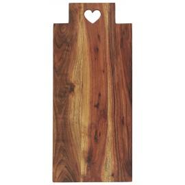 ib laursen planche a découper rectangle longue bois fonce acacia coeur
