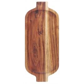ib laursen plateau bois fonce acacia ovale style campagne rustique
