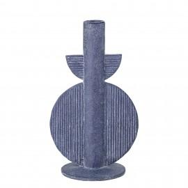 bloomingville bougeoir neo style art deco geometrique bleu bess