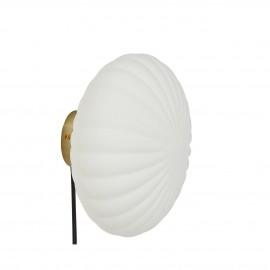 hubsch applique ronde chic retro verre blanc