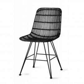 hk living chaise design rotin noir salle a manger
