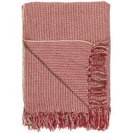 ib laursen plaid coton franges fines rayures rouge