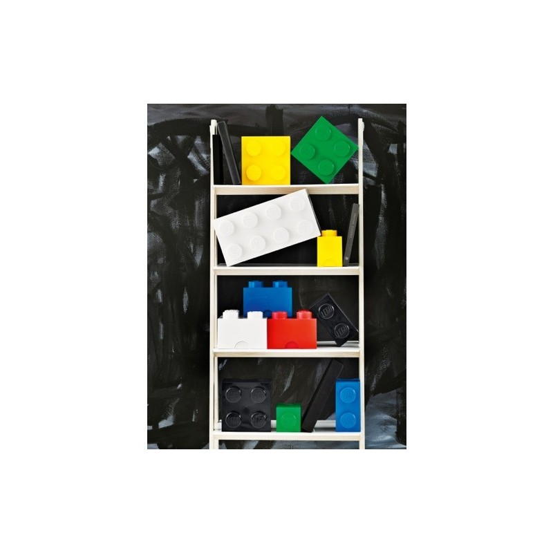 boite rangement lego bleu m 4 plots. Black Bedroom Furniture Sets. Home Design Ideas
