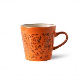 hk living mug ceramique orange magma