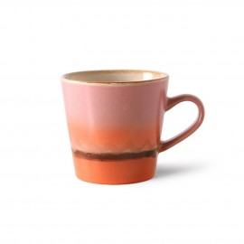 hk living tasse mug ceramique bicolre rose orange mars
