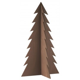 sapin design bois fonce decoration noel ib laursen